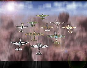 3D war-bird fighter