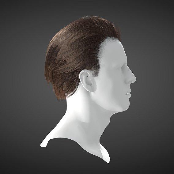 Game Ready PBR Hair Model