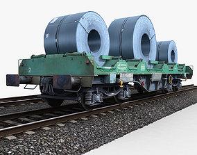 Steel Coil Wagon 3D model