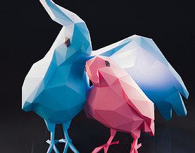 3D model Parrot Pair Low Poly