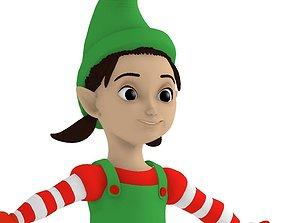 3D Cartoon elf girl