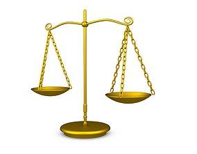 classic Balance Scale 3D