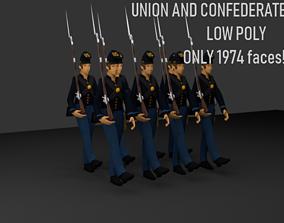 CIVIL WAR SOLDIERS 3D asset