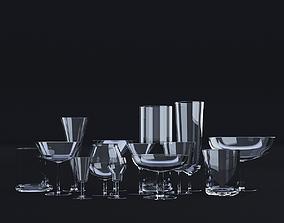 3D Glassware Set - 14 models
