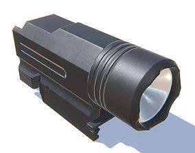 Tactical Flashlight 3D model VR / AR ready