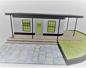 3D Small house suburban