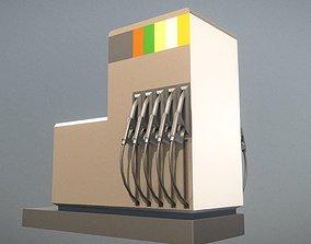 3D asset low-poly Fuel Dispensers 2 Low- Poly