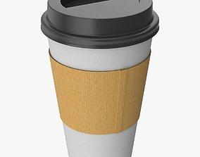 Paper Cup 3D model low-poly PBR