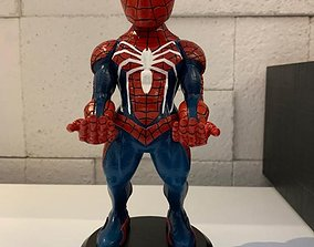 3D print model spiderman cellphone and joystick holder
