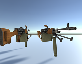 Grenade launcher Gun low poly 3D model VR / AR ready