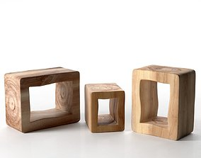 3D Brick Coffee Table and Stool