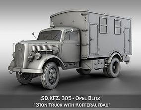 3D model Opel Blitz - 3t Truck with Kofferaufbau