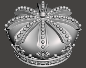 Royal Crown - 3d model for CNC -