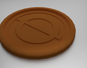 Transpluto Coaster 3D print model