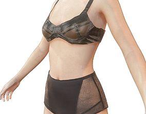 3D asset Latex lingerie