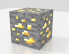 Minecraft gold ore 3D model