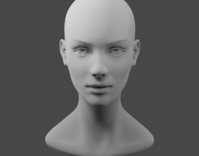 3D Female base head