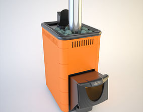 3D model SiberStove Wood Stove With Stones Of Expert Class