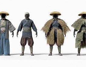 3D model MEDIEVAL Japanese People