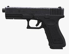 Glock 17 3D model realtime