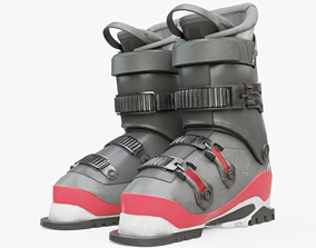 3D model Skiing Boots