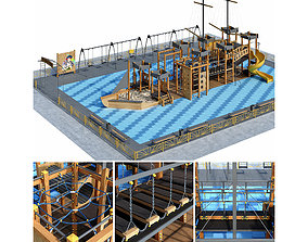 Children playground Pirate ship entertainment 3D