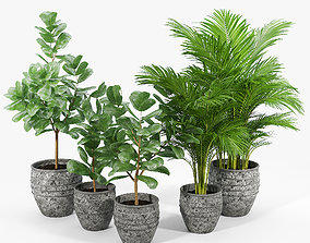 3D Knisely 2-Piece Pot Planter Set 01