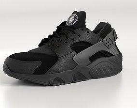 Nike Air Huarache Triple Black 3D model