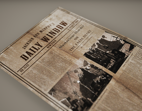 News paper Low poly Game Ready 3D asset