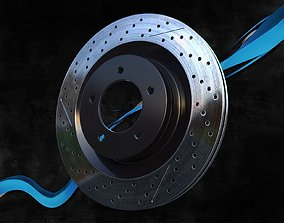 3D model Brake disk AMG