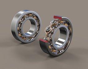 Radial ball bearing 3D model