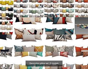 Decoration pillow set 3D model