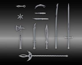 3D asset Blades set