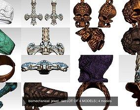 biomechanical jewel set LOT OF 4 MODELS