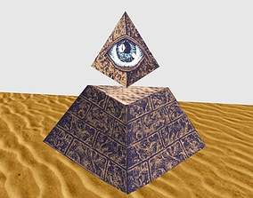Illuminati Pyramid Horus Eye 3D model