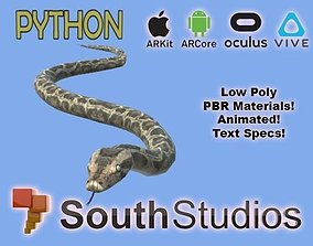 animated Animated Python AR VR Unity 3dsmax