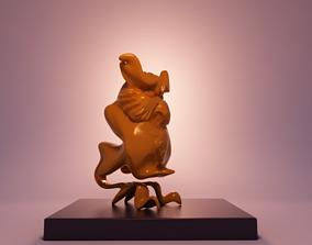 owl stylised 3D print model