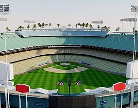 3D model Dodger Stadium - Los Angeles