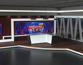 3D model TV Studio News