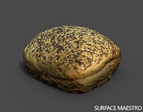 3D asset Bread roll scan