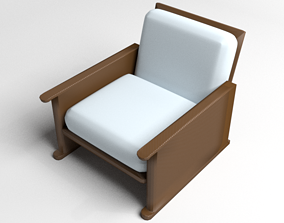 3D model Sofa Single Seater 4