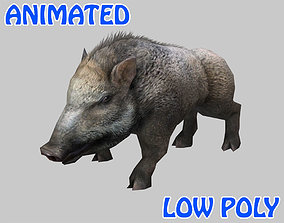 3D model Low poly Boar Animated - Game Ready