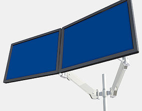 Dual Monitor Arm 3D model