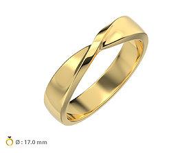 N160 Mobius wedding ring 3D printable model