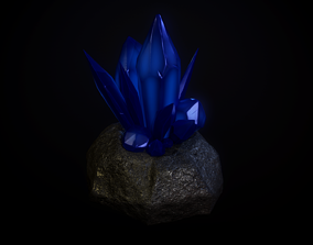 3D model game-ready Crystals