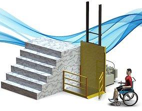 Wheelchair Elevator 3D