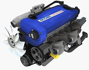 Nissan RB26DETT by Tomei engine 3D asset
