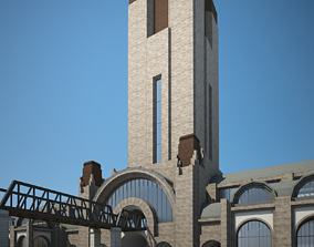 tunnel Train Station 3D