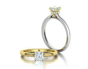 Classic Engagement ring Two Tone design