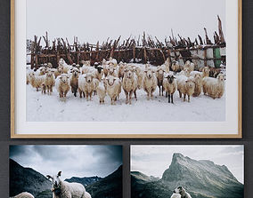 JUNIQE Sheep framed 3D model